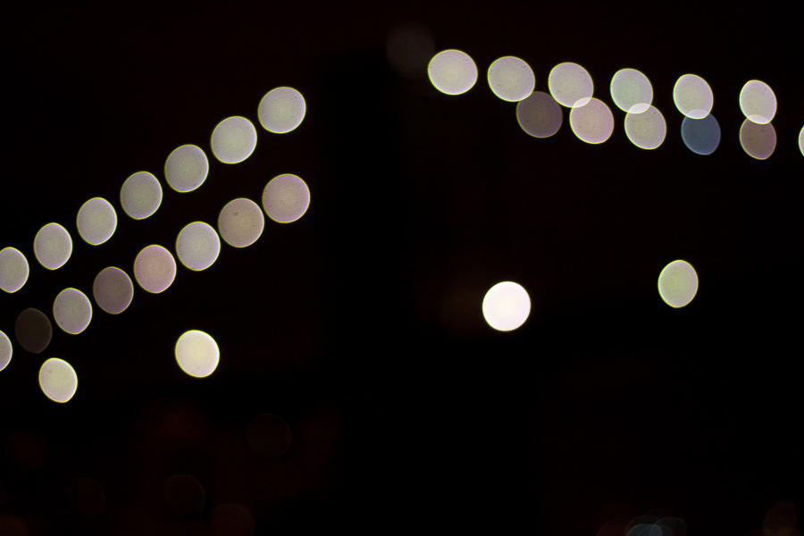 Brooklyn Bridge Lights, Bokeh