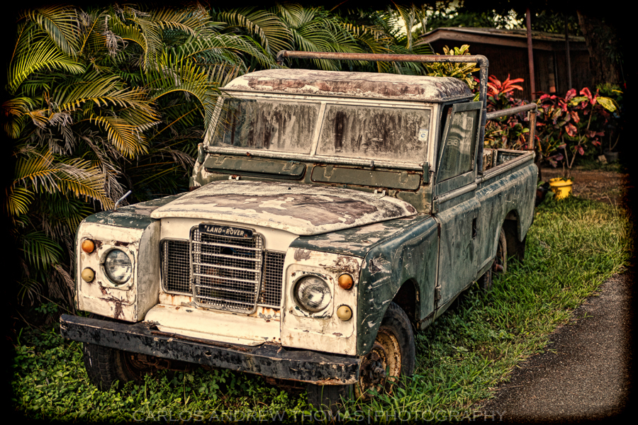 Old Landrover in HDR